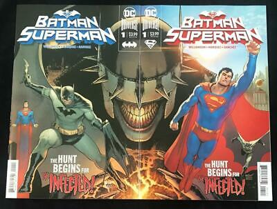 Batman Superman #1 Connecting Variant Set - DC Comics 2019 1st Print Unread NM