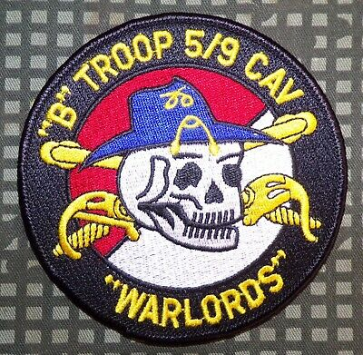 """US Army B Troop, 5th Squadron, 9th Cavalry Regiment """"Warlords"""" Patch"""