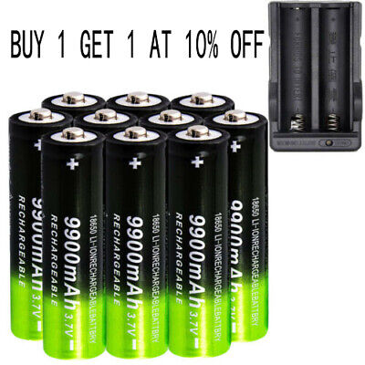 3.7V 18650 9900mAh Li-ion Rechargeable Battery For Flashlight Torch LED RC -USA`