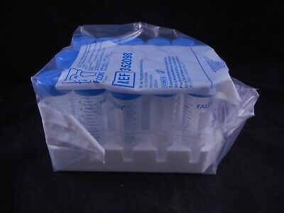 FALCON Plastic 50mL 115 x 33mm Conical Centrifuge Tubes 16,000 RCF 352098 25/PK