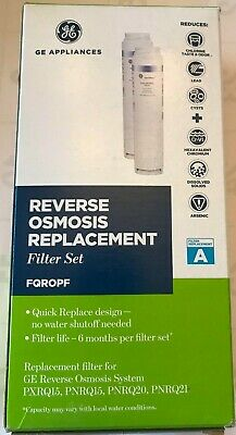GE Profile FQROPF Reverse Osmosis Replacement 4 Filters 2 Sets Brand New- Sealed
