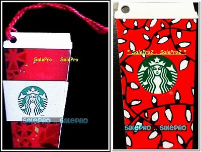 2x 2016 STARBUCKS 2013 CANADA RED COFFEE CUP BILINGUAL COLLECTIBLE GIFT CARD LOT
