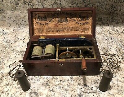 antique Davis And Kidders Magneto Electric Machine For Nervous Diseases 1854