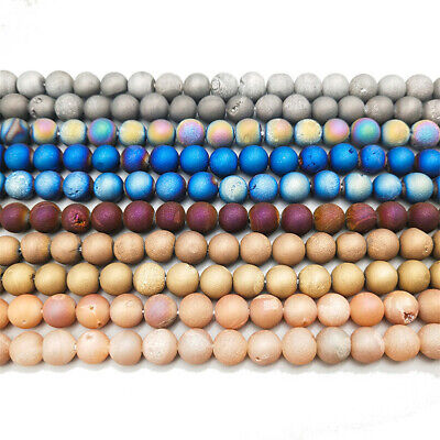 6mm Round Color Agate Crystal Stone Loose Beads Diy Accessories Jewelry Making