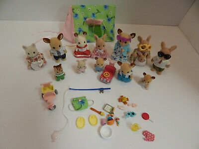 Epoch Sylvanian Family Calico Critters & Accessories Lot