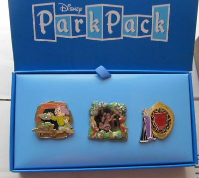 DISNEY SNOW WHITE PARK PACK 3.0 PINS SET (EACH PIN IS A LIMITED EDITION of 500)