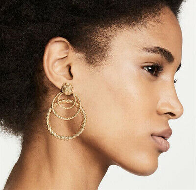 Fashion Metal Round Circle Earrings For Women 2019 New Simple Statement Earrings