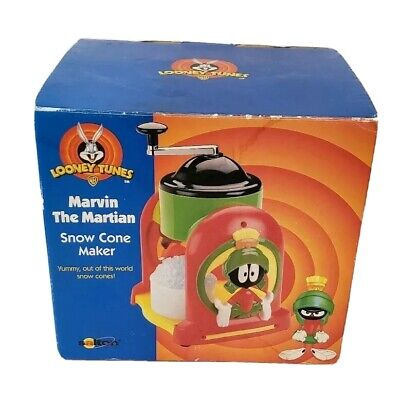 1998 Vintage Marvin the Martian Snow Cone Maker Looney Tunes With Box