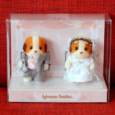 Sylvanian Families BABY PAIR WEDDING CHIFFON DOG Available only in Official Shop