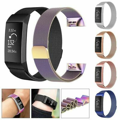 For Fitbit Charge 3 Strap Replacement Milanese Band Stainless Steel Magnet FNN