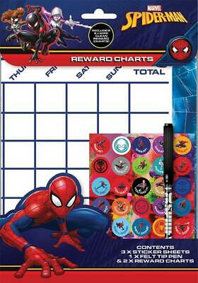 Re-usable Behaviour Reward Chart (including FREE Stickers and Pen) - Spider man
