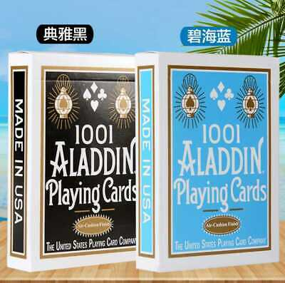 Aladdins 1001 Playing Cards - Limited Edition Light Blue Or Black (1 DECK)