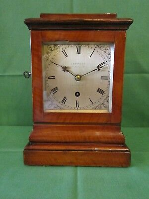 19th century fusee four glass clock of small size