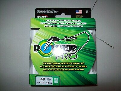 21100400500V Power Pro Braided Spectra Fiber Fishing Line 40Lb 500 YD Red