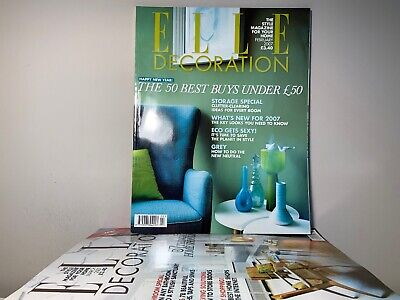2007 Annual Collection of ELLE DECORATION Magazine | 11 Issue Bundle |