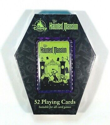 Disney Parks 50th The Haunted Mansion 52 Playing Cards New In Box Rare