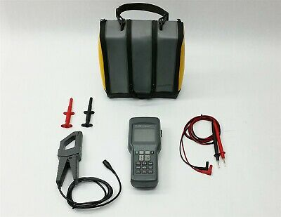 FLUKE 41 DIGITAL POWER HARMONICS ANALYZER DMM MULTIMETER+80i-500s CURRENT PROBE