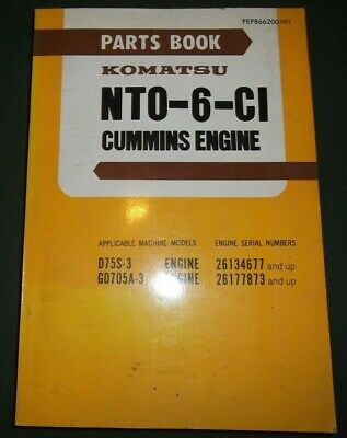 KOMATSU 6D105-1 DIESEL Engine Parts Catalog Manual - $179 55