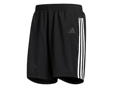 PANTALONI CORTI UOMO Adidas Estate Dm1666 Run 3 Stripes Short Black/White