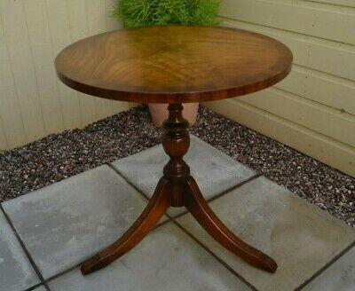 Bevan Funnell Reprodux Mahogany Table Side Wine Lamp Table Georgian Style