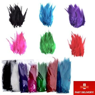 "Pack of 50 4-6"" 10-14cm Rooster Feathers for Craft Costume Millinery Card Making"