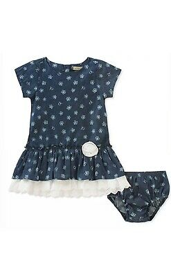 Calvin Klein Girls Chambray Dress With Bloomers Set 18 Mo CK Logo  #8