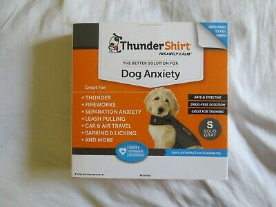 Thunder Shirt Dog Anxiety Solid Grey Size Small Dogs 15To25 Lbs Or Less New
