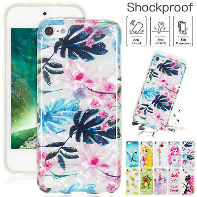 For iPod Touch 6th / 5th Gen Case Soft Rubber Gel TPU Shockproof Pattern Cover