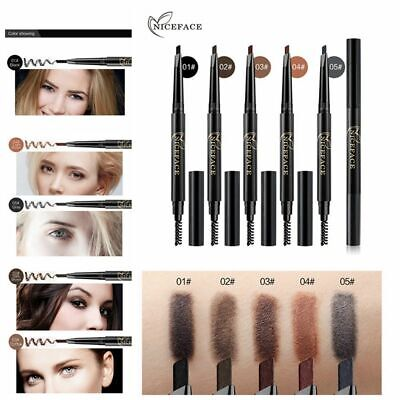 Long Lasting Automatic Rotate Eyebrow Pencil Double Head with Brush Brow Tint