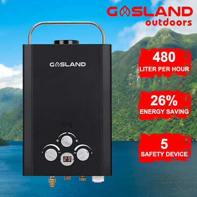 GASLAND Portable LPG Gas Hot Water Heater Caravan Camping Shower Pump Stand 4WD