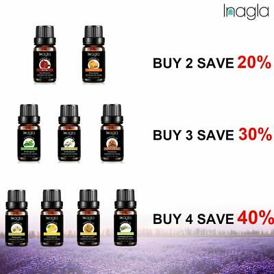 Inagla Essential Oils 100% Natural Aromatherapy Organic Diffuser Burner Oil 10ml