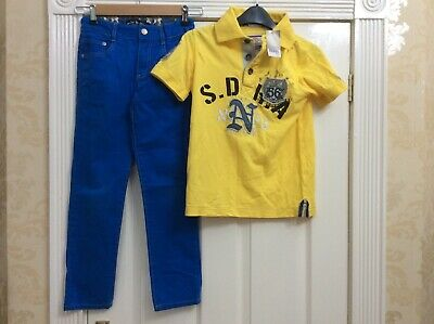 Boys Next Polo Bnwt And Boden Jeans Bundle 9 Years (k) Bright Summer Outfit