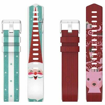 Replacement Silicone Sports Band Santa Claus Antler Strap For Fitbit Charge 2