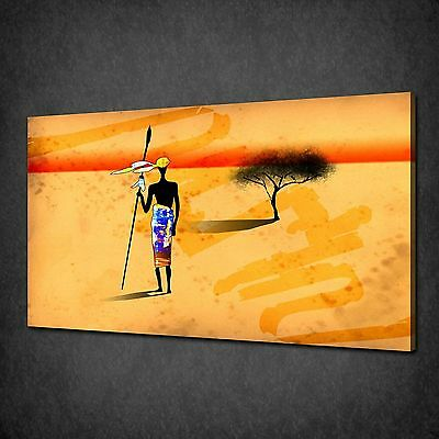 ABSTRACT AFRICAN MODERN WALL ART CANVAS PRINT MANY SIZES FREE UK P/&P AF038