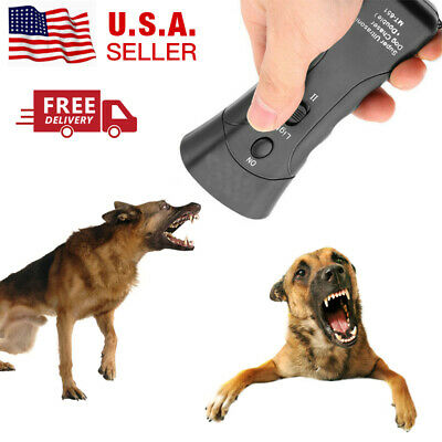Anti Dog Barking Pet Trainer LED Light Ultrasonic Gentle Chasers Petgentle Tools