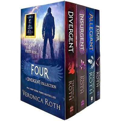 Veronica Roth Divergent Series Collection 4 Box Set  Dystopian, Paperback NEW