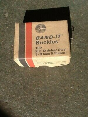 Box Of 100 New Band-it C253 EDP 13253 201ss Buckles 3/8in