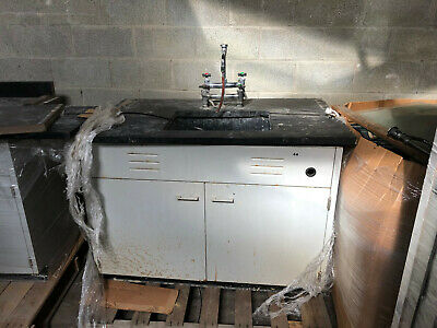 4' St Charles Laboratory Sink Basin Cabinet with Faucet
