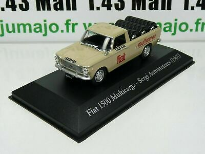 ARG83 1/43 SALVAT Vehiculos Servicios: Fiat 1500 Multicarga pick-up Pneus (1965)