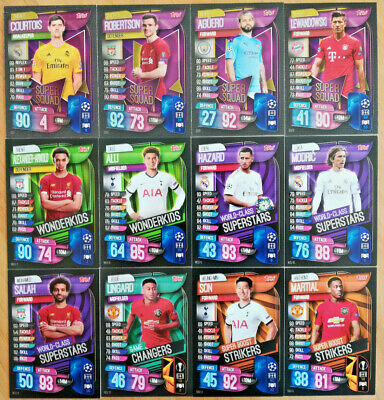 Match Attax 2019/20 19/20 Subsets super squad Wonderkids strikers superstars