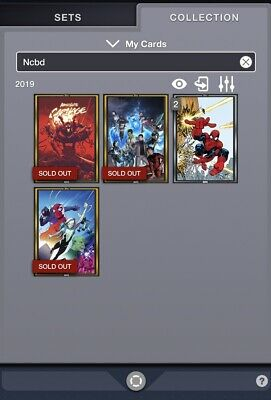 Topps Marvel Collect 5 Digital Comic Cover Lot Gold Absolute Carnage Silver