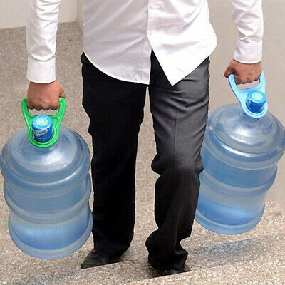 BL_ AG_ Bottled Water Pail Bucket Easy Carry Holder Lifting Handle Grip Tools HO