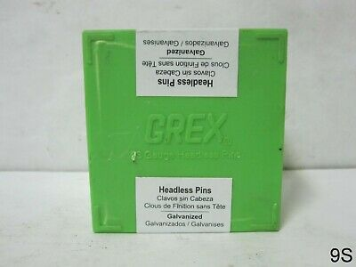 GREX P6/45L 23 Gauge 1-3/4-Inch Length Headless Pins 10,000 Per Box