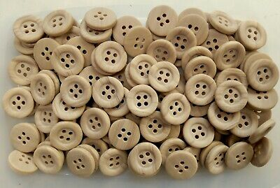 W673 18mm 28L Russet Red Brown Natural 2 Hole Craft Sewing Button Buttons