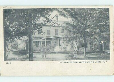 c1910 NORTH WHITE LAKE HOME By Bethel & Woodstock & Liberty NY W4875