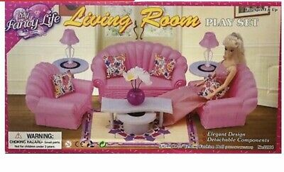 My Fancy Life Barbie Size Dollhouse Furniture Living Room Beautiful Play Set