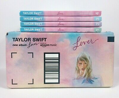 Taylor Swift Lover Album Deluxe Versions 1-4 Complete CD Set + Amazon Promo Box