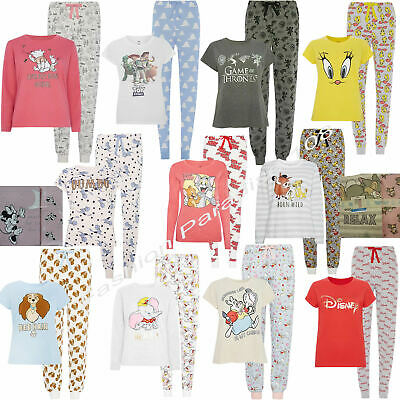 PRIMARK Ladies Girls Pyjamas T Shirt Pajamas Disney Women's Tee Top Bottom PJ's