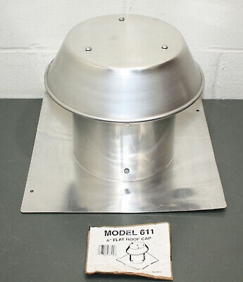 ROOF FLAT CAP 8 in Aluminum Curb Vent Cheapest New Box Round