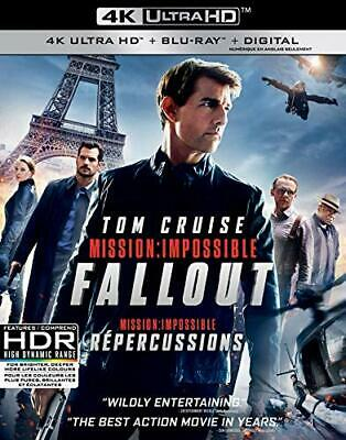 Mission Impossible Fallout- 4K Ultra Hd + Blu Ray + Digital +Slipcover-New